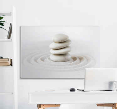 Looking at this Zen stones stack canvas art  print you would already know where you want to hang it in your home. Also suitable for an office.