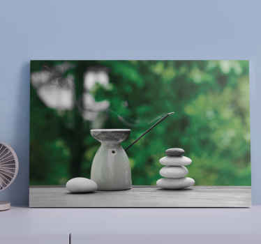 Transform your space with a mediation and calm aura with this Zen stack stone canvas art prints. A brilliant idea for  bathroom decoration.