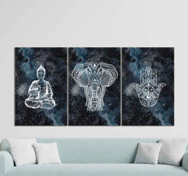 Zen stone triptych canvas wall art for home decoration. You can beautify your living room or office with this canvas wall art.