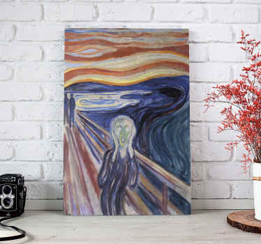 "Canvas print with Van Gogh's ""Scream"". Printed on high quality material. Easy to hang, delivered right to your door. Check it out!"