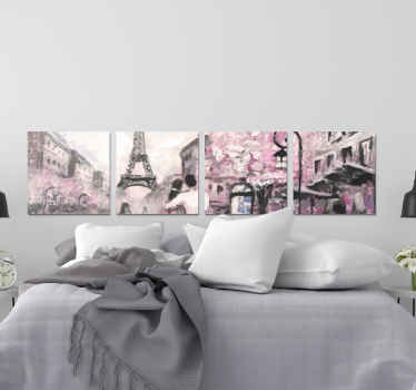 This  Paris canvas wall art is for you! It offers an incredible view over a part of this magnificent city while highlighting the Eiffel Tower