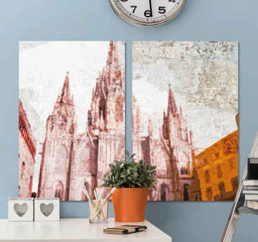 tOrder now tis canvas of the incredible city of barcelona with its famous cathedral which will make all your guests incredibly envious