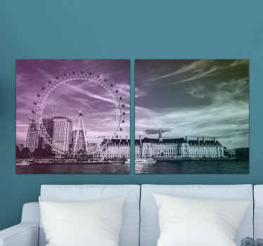 This canvas is made for you! Thanks to this canvas of the splendid City of London, your home will look great in your home!