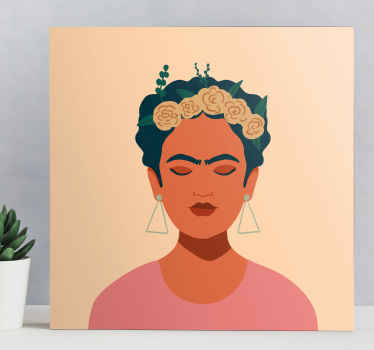 This Frida Khalo canvas is easily hung on on a drawer or a shelf. With this product you have a guarantee of quality and a unique look