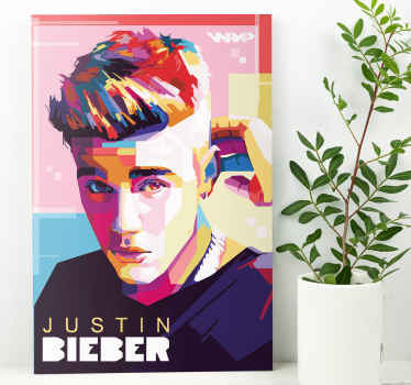 This amazing Canvas Print with Justin Bieber is for you!  With this product you have a guarantee of quality and a unique look