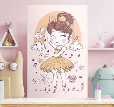 Let your child's passion for classical dance flourish with this wall art canvas is made for you! This canvas will look amazing in any room!