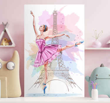 Passionate about classic dance? This wall art canvas is for you! This cancas will look amazing in any room!  Home delivery !