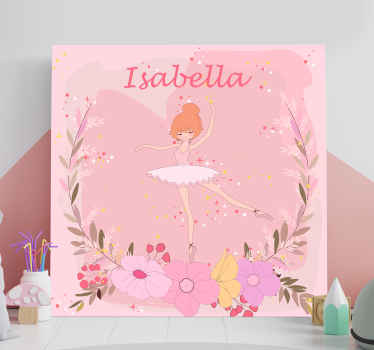 This lovely canvas wall art customizable with your child's name will look amazing in your nursery! Order now! Home delivery !