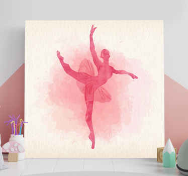 This amazing customizable wall art canvas will look amazing in your little girls nursery! It features silouhette of a pink dancer