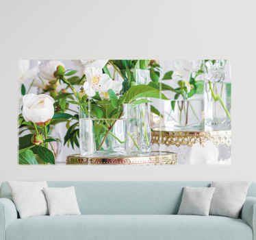 Looking to decorate your home with a touch of nature effect and elegance? then this amazing 3D roses in vases canvas prints is for you.