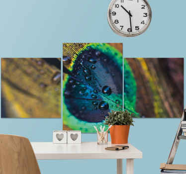 A wonderful realistic peacock feather canvas wall art that you can adorn your home with! Discounts available when you sing up.