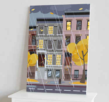 A wonderful city canvas wall art featuring a rainy scene in New York City! Get 10% off your first order when you sign up.