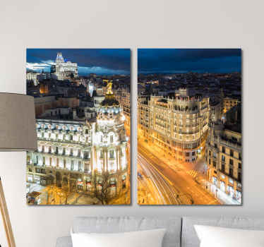 City lovers will adore this Madrid canvas wall art perfect for any home! Discounts available when you sign up to ur website.