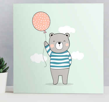 Super adorable teddy bear wall picture for nursery that both you and your little one will love! Discounts available online.