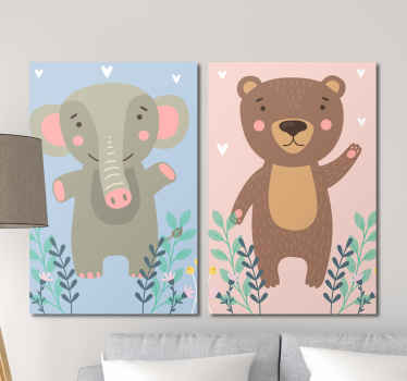 Amazing animal inspired childrens wall art canvases that will look stunning in your child's nursery! Discounts available.