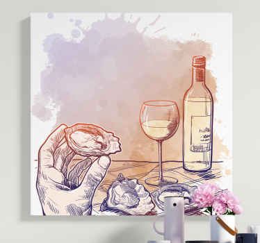 Incredible wine canvas print with beautiful watercolour scenery! With +10,000 satisfied customers you are in safe hands.
