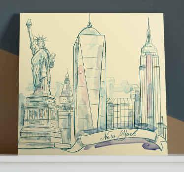 让自己被纽约这座独特城市的画布所吸引!有了这张绚丽的纽约市的画布,您的房屋将会看起来很棒!