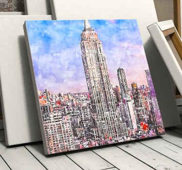 这张帆布会让您沉浸在纽约市中!多亏了纽约这座美丽的城市的画布,您的房屋才会在您的房屋中看起来很棒!