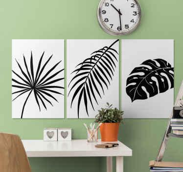 Een aantal fantastische tropische bladeren canvas schilderijen voor aan de muur om uw huis uniek en karakter te geven. Meld u aan voor 10% korting op uw eerste bestelling bij ons.