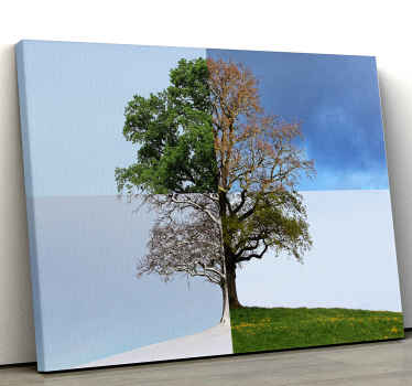 Incredible tree wall art canvas to show you love for all four seasons! Discounts available when you sign up online today.