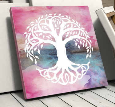 Tree of life canvas which features a beautiful image of the tree of life against a water-coloured background. Discounts available.