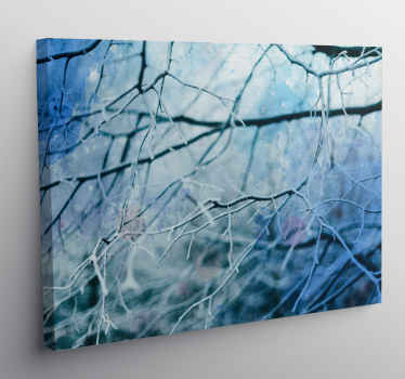Winter tree canvas print which features a lovely image of a tree in winter with its branches covered in a thin layer of snow.