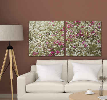 A field of poppy flower canvas wall art to enhance the look on your space in a lovely and cute way. It is original and durable.