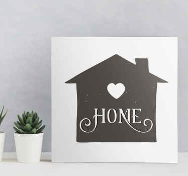 Simple yet a beautiful home illustration canvas wall art to decorate any space of your choice. Printed in high quality finish.