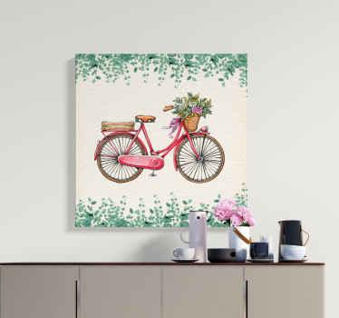 Rustieke vintage fiets canvas schilderij om elke kamer in huis te versieren. Een canvas ontwerp voor fietsliefhebbers, het is bedrukt met een hoogwaardige afwerking.