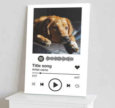 Decorate your space with our customizable Spotify white background music canvas art. Printed in quality finish and highly durable.