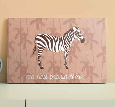 A vintage textures background canvas with zebra and palms. Prefect to decorate any space and it would leave an enhancing look on a space.