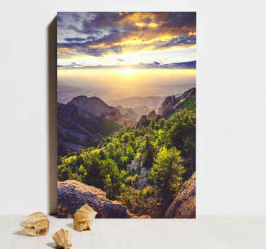 Give yourself and your rooms a much more beautiful looking decoration today with this sunset landscape canvas print. Order it today now!