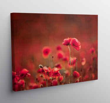 罂粟田帆布墙艺术,用于主卧室,客厅,办公室和其他空间的装饰。该产品经久耐用,并印有高质量的印章。