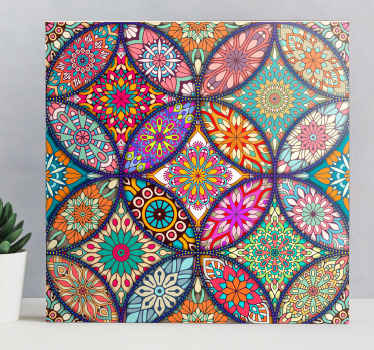 Colorful mandalas canvas wall art to decorate any space with a brilliant and more ethical; art look. It is durable and original.
