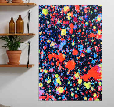 Bring your artwork personality to life with the texture and depth of this colour explosions abstract canvas canvas wall art.