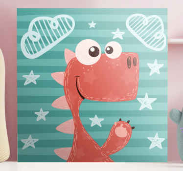 Here we have for you a happy cartoon dinosaurs canvas for kids. You are sure to interest your kid with this amazing illustrative cartoon canvas.