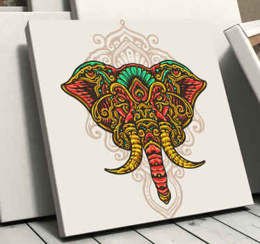 An elephant canvas print with mandala for lovers of traditional and tribal inspired design.  Perfect to decorate any space and it is original.