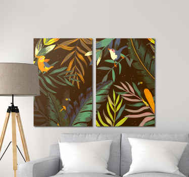 Your home will gain so much uniqueness and character with the addition of these three stunning leaf wall art canvases!  Home delivery!