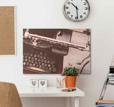Upgrade your room or space with a vintage look and effect with this retro typewriter retro canvas art. Made from quality material and it is durable.