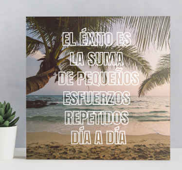 Decora tu casa con este cuadro frase motivadora. Diseño inspirado en calma y calma con cita para el éxito. Impreso en acabado de calidad.