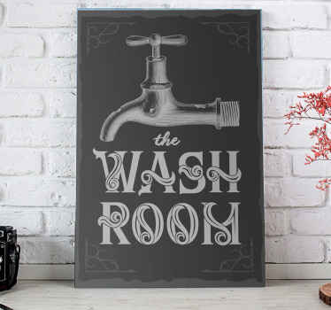This canvas art print can be decorated on a bathroom, toilet or any other space in a house. It is original, durable and easy to hang.