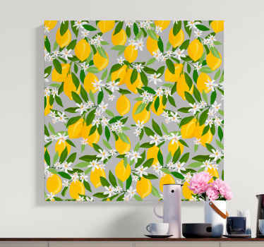 Pretty lemon fruit canvas art for home and office decoration. How amazing your space would be with this sweet looking citrus fruit canvas prints.