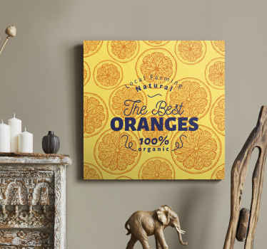 If you love your orange so much then you might love to illustrate with this amazing sliced of orange fruit canvas art on your space.