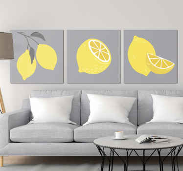 Looking for something unique and lovely to decorate your home in style. this amazing tropical lemon fruit canvas would do the magic.