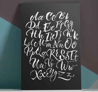 Meget flot gammel stil alfabet hjem lærred væg kunst, der får dine venner til at føle sig forbløffet over denne dekoration lavet af de bedste materialer