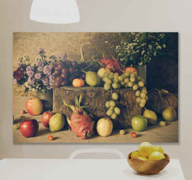 Buy our amazing fruits canvas art for your kitchen, It contains high quality picture of different fruits illustrations. It is original and durable.