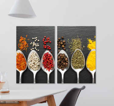 We got your kitchen covered with our amazing collection of different spices canvas art. The picture quality and finish is amazing.