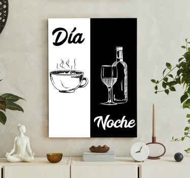 Coffee and wine drink canvas art to add a lovely elegant look on your kitchen space. Our canvas are manufactured with quality material and finish.
