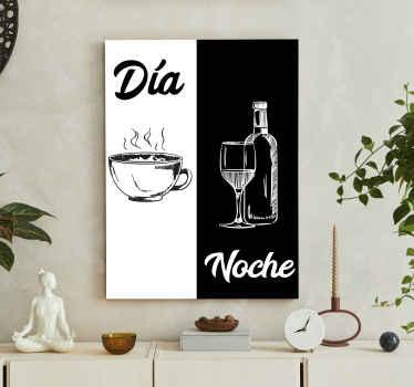 Kaffe og vin drikke lerretskunst for å gi et nydelig elegant utseende på kjøkkenet ditt. Lerretet vårt er produsert med kvalitetsmateriale og finish.