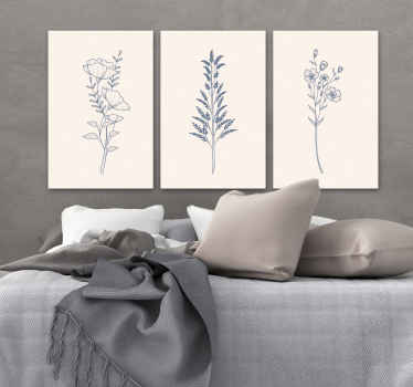 If you are looking for a very soft and soothing bedroom wall canvas art for your space, you can consider having this flower canvas for your space.